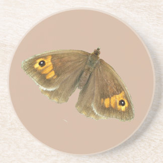 Meadow brown butterfly design coasters