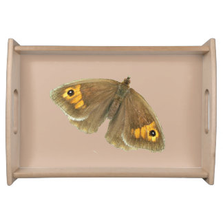 Meadow brown butterfly design food trays