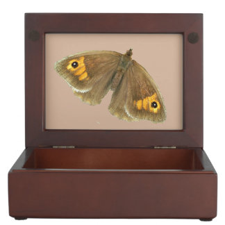 Meadow brown butterfly design jewelry box