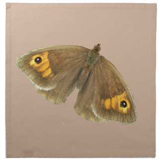 Meadow brown butterfly design napkins