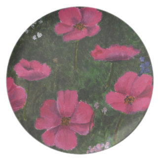 meadow flowers party plates
