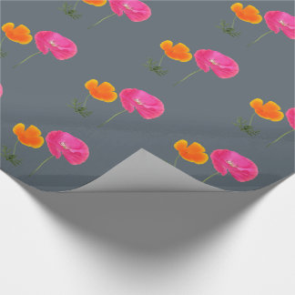 meadow flowers wrapping paper