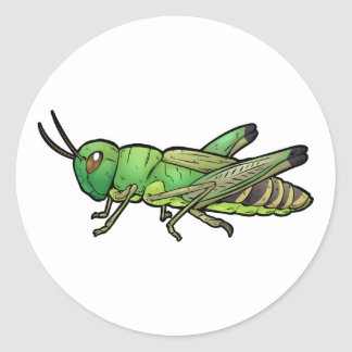 Meadow Grasshopper Classic Round Sticker