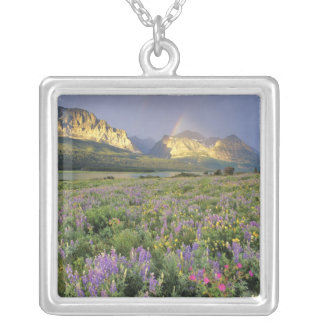Meadow of Wildflowersnear Lake Sherbourne in Silver Plated Necklace