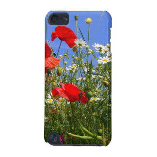 Meadow - Red Poppies and White Camomile Flowers iPod Touch (5th Generation) Covers