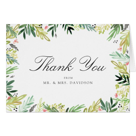Meadow Wedding Thank You Card