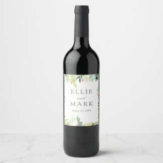 Meadow Wedding Wine Label