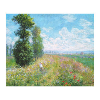 Meadow With Poplars, by Claude Monet Canvas Print