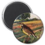 Meadowlarks in a Grassy Field Refrigerator Magnets