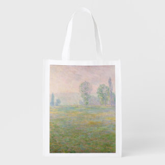 Meadows in Giverny, 1888 Grocery Bags