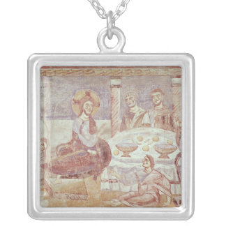 Meal at the House of Simon the Pharisee Silver Plated Necklace