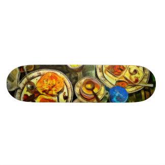 Meal done 18.1 cm old school skateboard deck