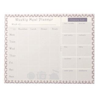 Meal Planner Purple Geo Notepad