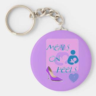 Meals on Heels! Breastfeeding Design Key Ring
