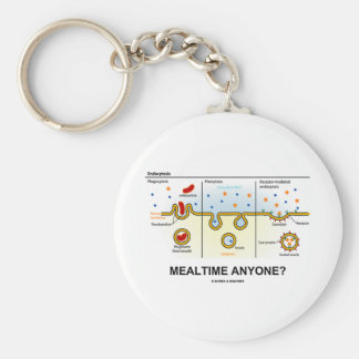 Mealtime Anyone? (Endocytosis Digestion Humor) Basic Round Button Key Ring