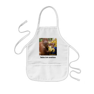 Mealtime for Babies Kids Apron