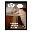 Mealtime with the Kitties Postcard