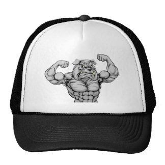 Mean Bulldog Sports Mascot Cap