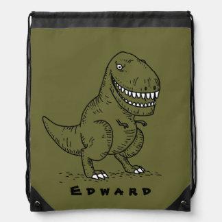 Mean Cool Dinosaur T Rex Cartoon Name backpack