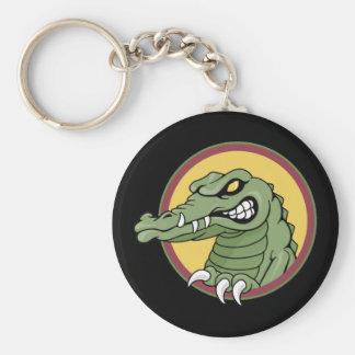 Mean Gator Basic Round Button Key Ring
