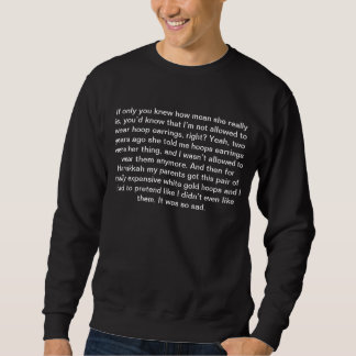 'Mean Girls' Quotes (Hoop Earings) Pull Over Sweatshirts