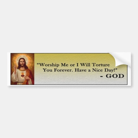 Mean God Quote Bumper Sticker