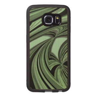 Mean Green Pattern Wood Phone Case