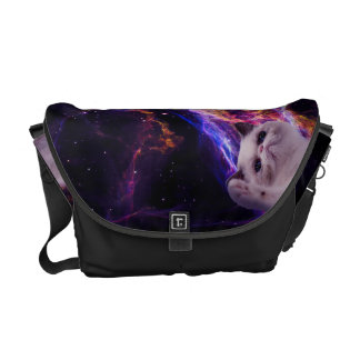 Mean grumpy cat in space commuter bag
