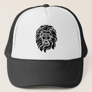 117b743c025 Mean Lion Head Trucker Hat