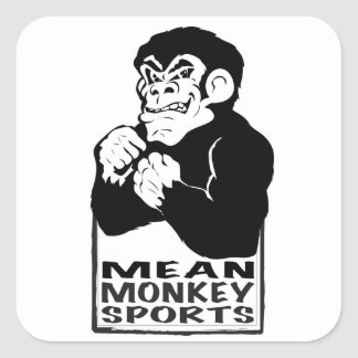 Mean Monkey Sports Square Sticker