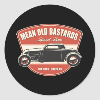 Mean Old Bastards Coupe Classic Round Sticker