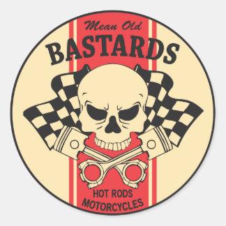 Mean Old Bastards Round Sticker