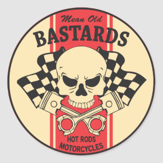 Mean Old Bastards Round Sticker