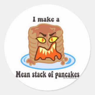 Mean Pancake Round Sticker