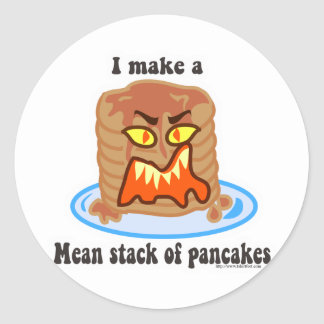 Mean Pancake Stickers