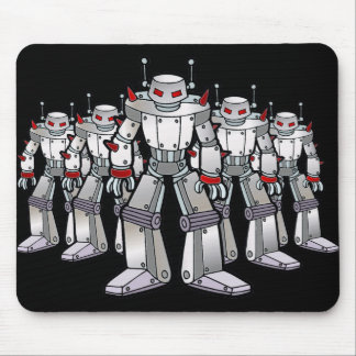 Mean Robot with Spikes Mouse Pad