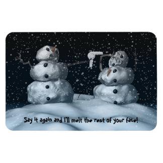 Mean Snowman Premium Flexi Magnet