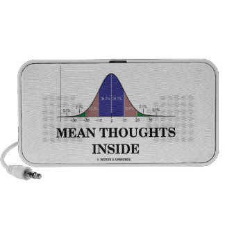 Mean Thoughts Inside (Statistics Humor) Speaker System