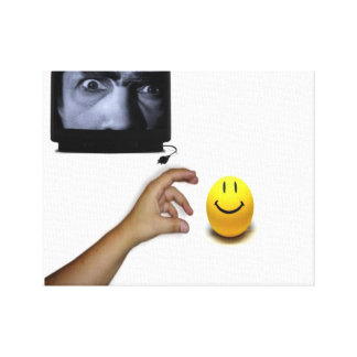 mean tv stretched canvas print