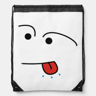 """Meanie!"" String Bag - A Funny Face Design"