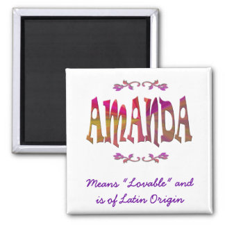 Baby name amanda gifts t shirts art posters other gift ideas meaning of amanda magnet negle Gallery