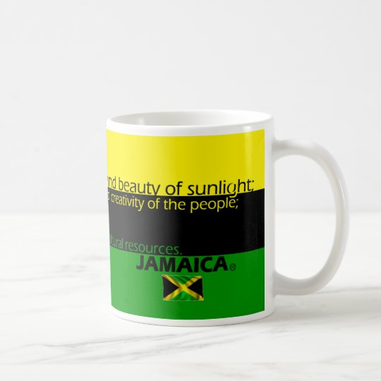 Meaning of Jamaica's Flag Colours Coffee Mug