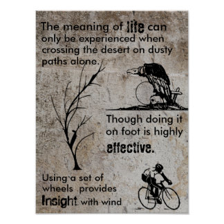 Meaning of life Bicycle Poster