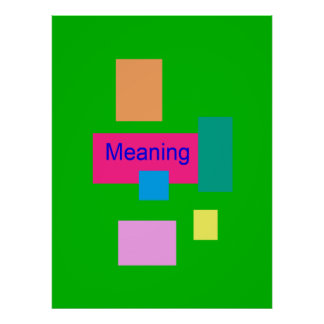 Meaning Poster