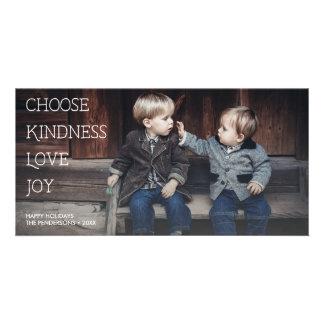 Meaningful Holidays Choose Kindness Love Joy Photo Card