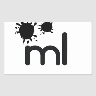 Meaningful living room brand and lifestyle rectangular sticker