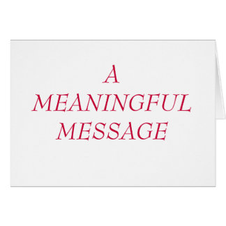 MEANINGFUL MESSAGE:  HEART TO HEART 16 NOTE CARD