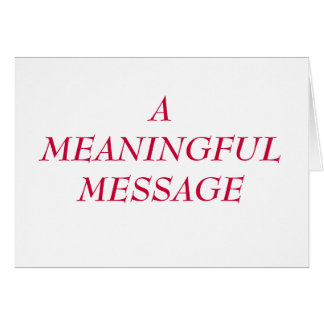 MEANINGFUL MESSAGE:  HEART TO HEART 1 NOTE CARD