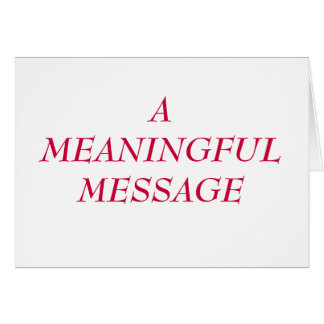 MEANINGFUL MESSAGE:  HEART TO HEART 21 NOTE CARD