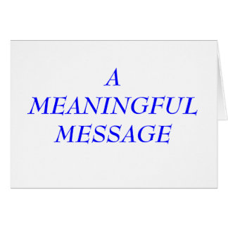 MEANINGFUL MESSAGE:  INCARCERATION 2A STATIONERY NOTE CARD